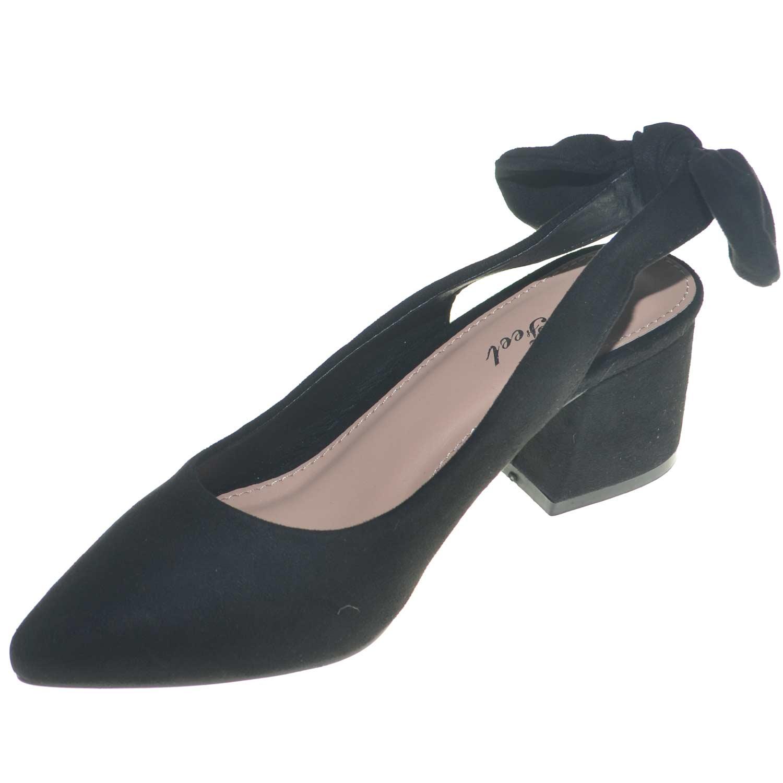 promo code efcd2 336d8 Scarpe donna basse art.443 ballerine nere in camoscio con ...