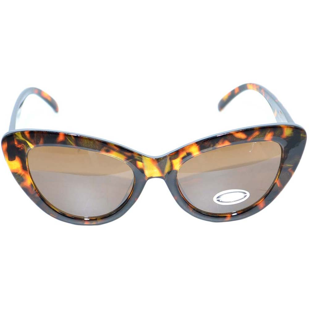 OCCHIALI DA SOLE DONNA SUNGLASSES ANNI 30 CATEYES MACULATI IN OSSO LENTE CALIBRATA MADE IN ITALY.