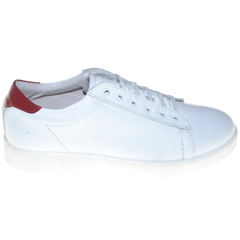 Dettagli su Scarpe uomo sneaker bassa made in italy vera pelle bianca con riporto di pelle v