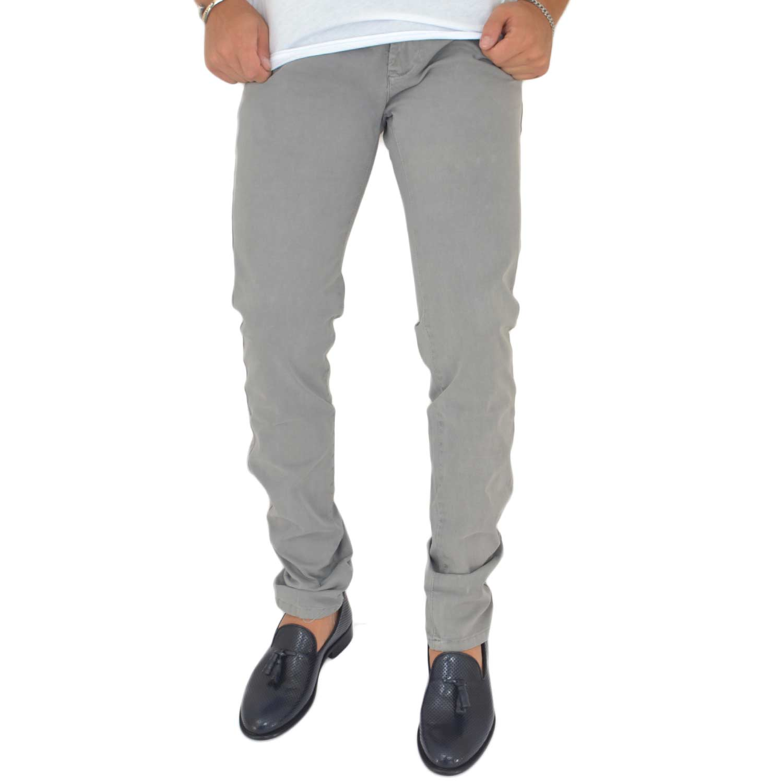 59c56e19ed Pantaloni grigio chiaro cotone, Skinny Fit con tasca americana . Chiusura  con bottone e cerniera. uomo pantaloni Malu Shoes | MaluShoes