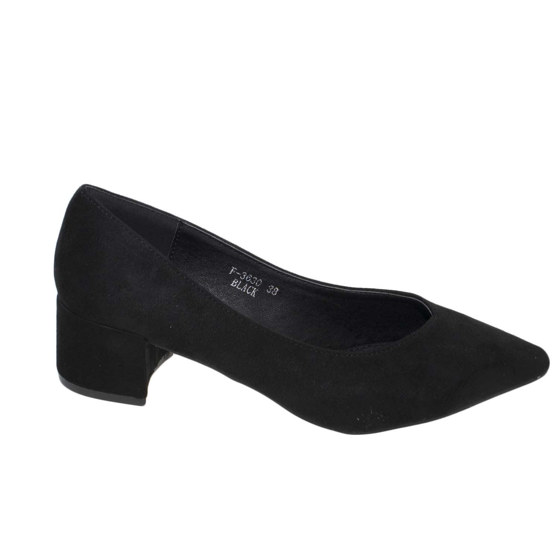 comprare on line 902e6 5b50a Ballerine art.98gp bamboline con tacco comfort a punta in camoscio nero  donna mocassini Malu Shoes | MaluShoes