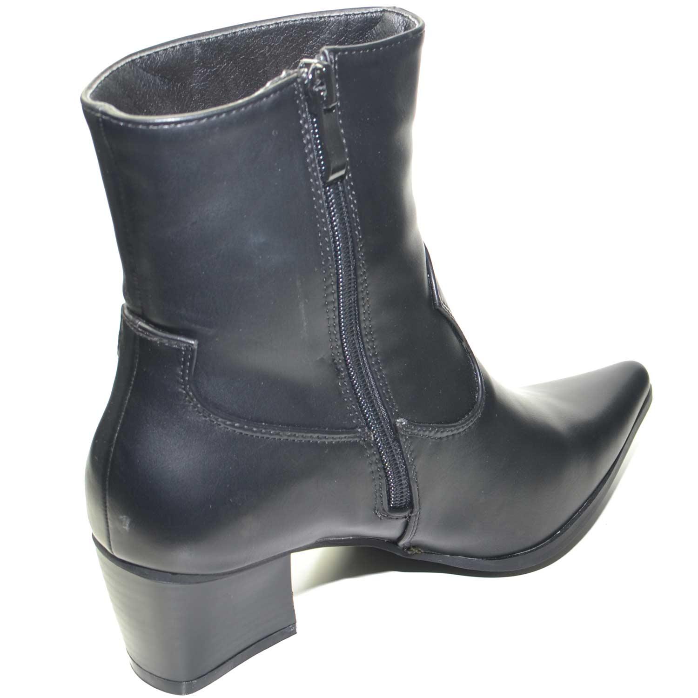 seleziona per il meglio autentica di fabbrica prezzo abbordabile Stivaletti donna camperos bassi neri con linea basic chiusura zip linea  glam mo | eBay