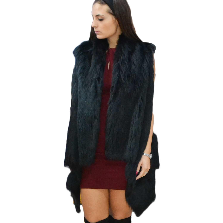 buy online 86018 d27d8 New pelliccia osley donna gilet eco pelliccia lunga colore nero cappotto  caldo pelliccia morbidissima donna pelliccia osley | MaluShoes