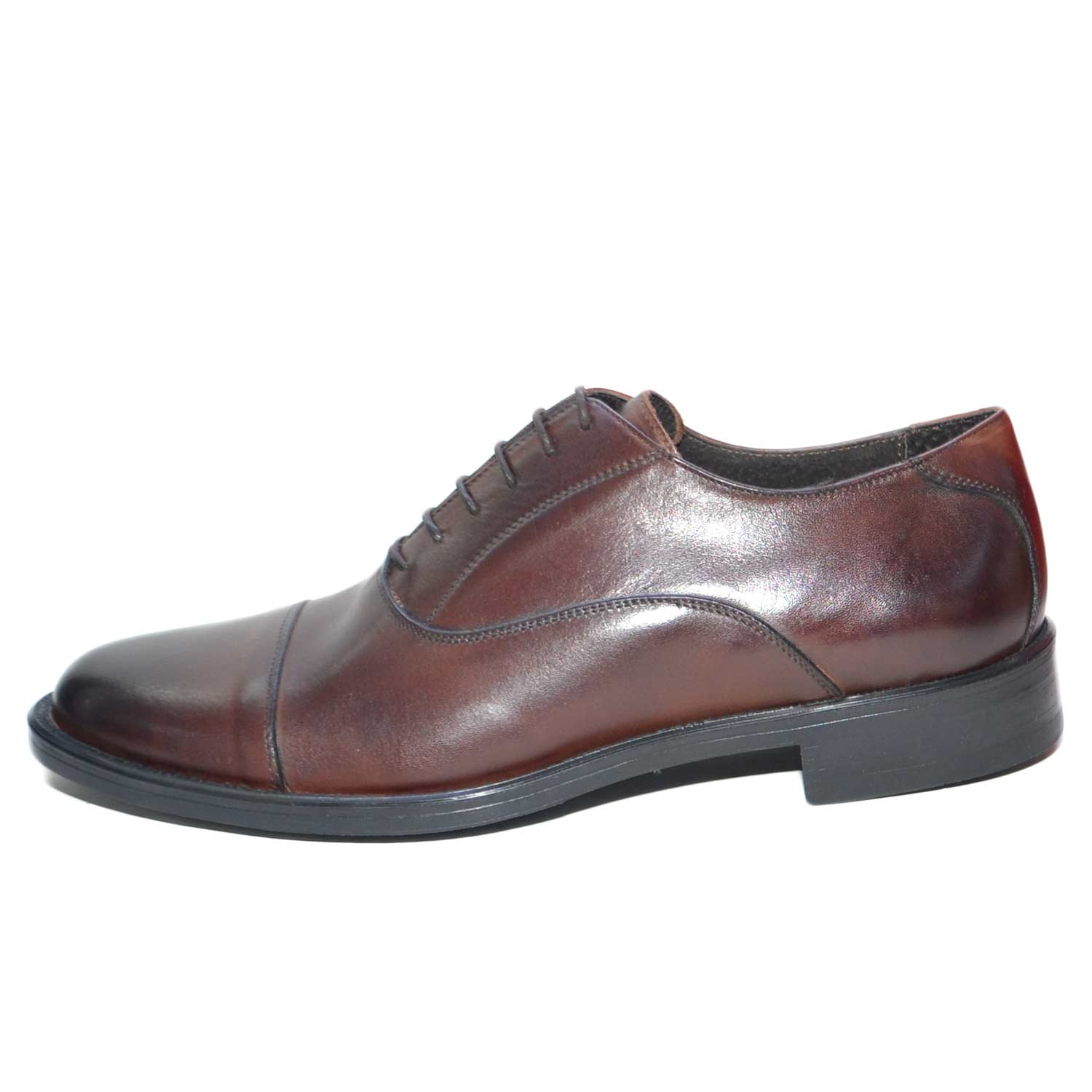 competitive price 3eabe e68c3 Scarpe uomo francesina stringata marrone vera pelle spazzolata art:b2345  anticato invernale made in italy uomo stringate Made In Italy | MaluShoes