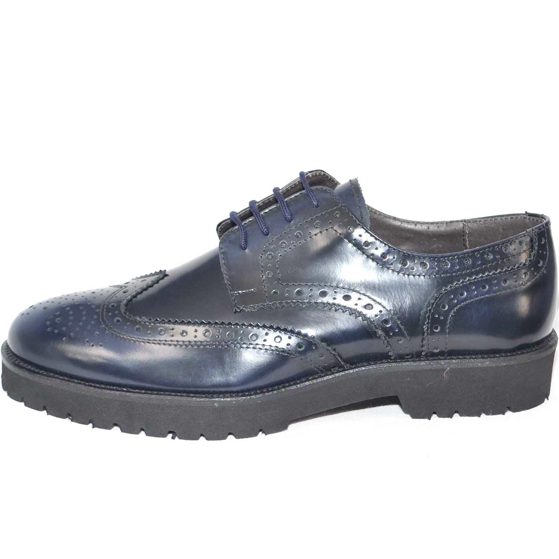 96ac9a5d45 Scarpe uomo inglese stringate fondo roccia antiscivolo blu abrasivato moda  classico sportivo uomo stringate Malu Shoes   MaluShoes