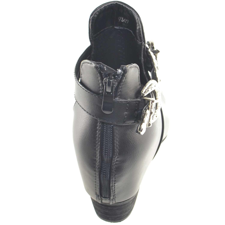 751965c3e616 Scarpe donna stivaletto glamour doppia fibbia zip moda tendenza zeppa  interna comfort scollo primavera estate. Passa il mouse sopra per eseguire  zoom