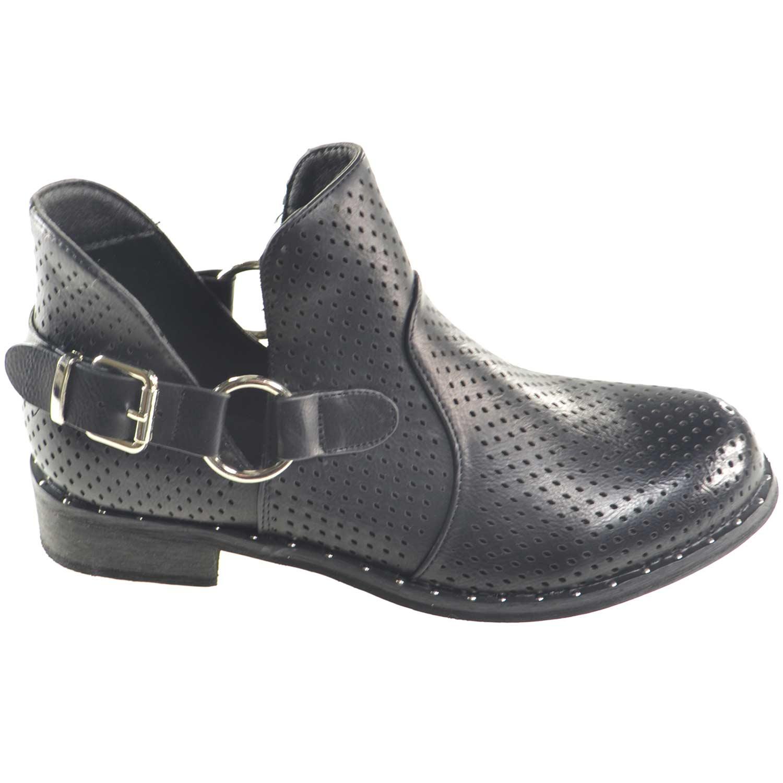 100% autentico c6d9b 8c3bf stivaletto estivo donna forato nero scollatura alla caviglia fibbia e  cerniera donna stivaletti Malu Shoes | MaluShoes