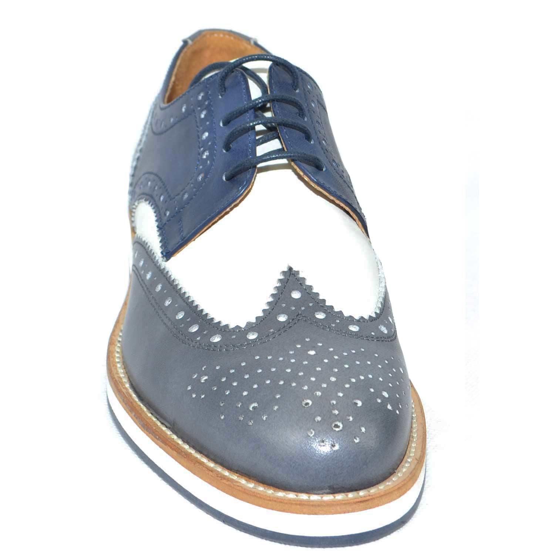 scarpe uomo bicolore art. NN00100 fondo comfort vero micro ultra leggero  stringata 69d8c618d2c