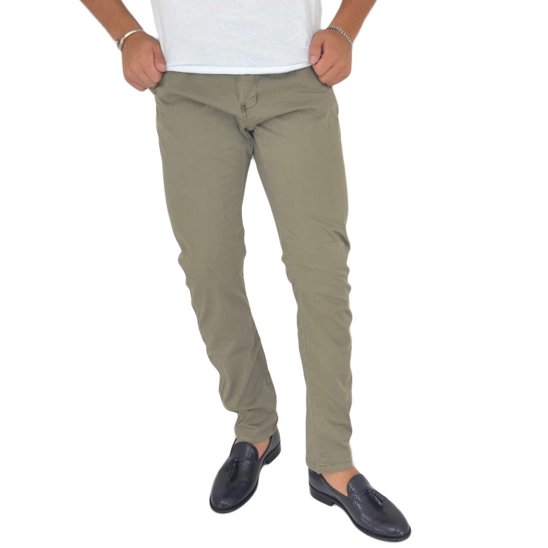 2b789e036bba Pantaloni fango in cotone, Skinny Fit con tasca americana . Chiusura con  bottone e cerniera. Passa il mouse sopra per eseguire zoom