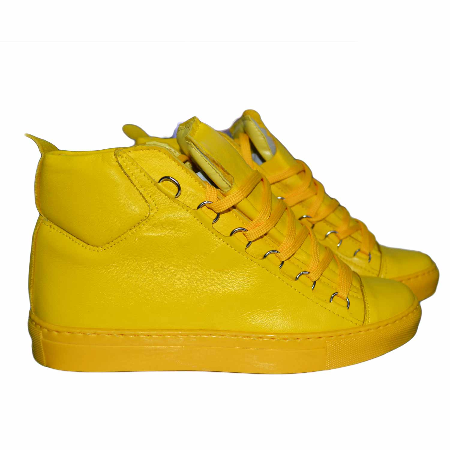 Sneakers alta balen uomo man stati uniti giallo uomo sneakers alta Made In Italy | MaluShoes