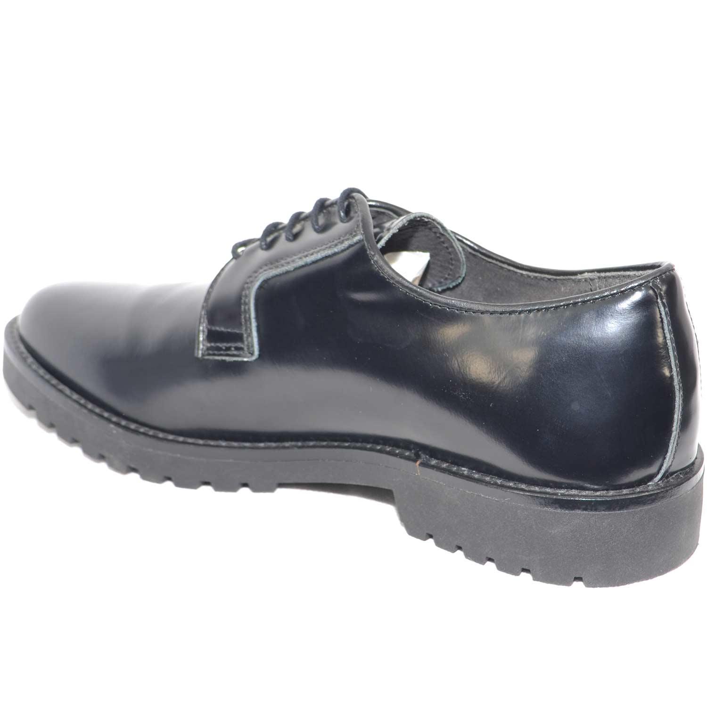 e918b6b341 scarpe inglese stringate uomo nero black stringhe punta tonda fondo  antiscivolo made in italy moda giovanile uomo stringate Malu Shoes    MaluShoes