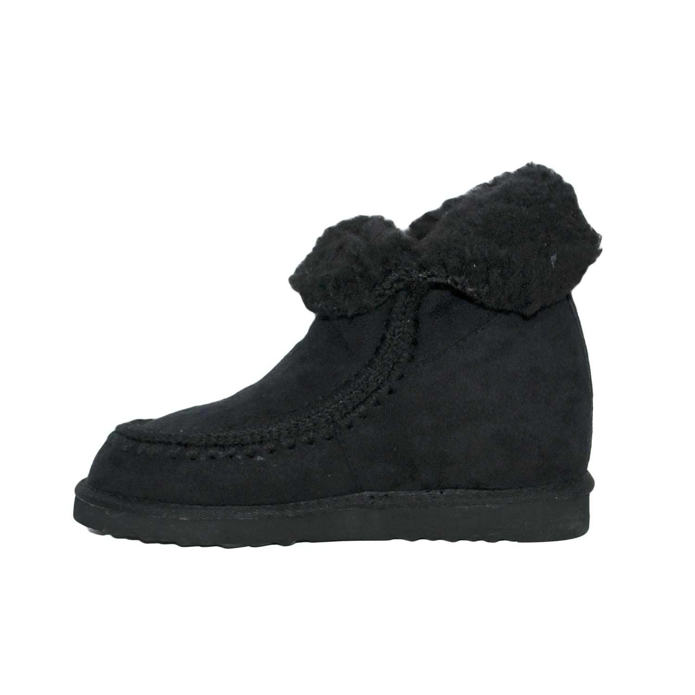 il più economico selezionare per lo spazio design popolare Stivaletti caldi pelliccia interno esterno nero moda fondo antiscivolo  donna stivali imbottiti Malu Shoes   MaluShoes