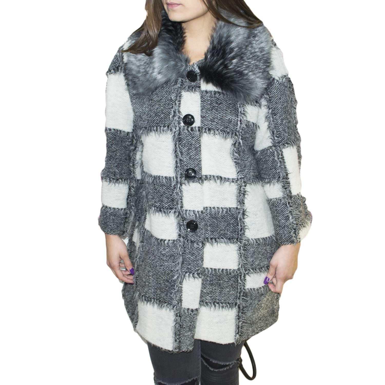promo code 2a245 c30a4 Giacca in lanetta collo pelliccia morbidissimo anni 30 modello Chanel stile  donna caldo cappotto invernale donna giacche Osley | MaluShoes