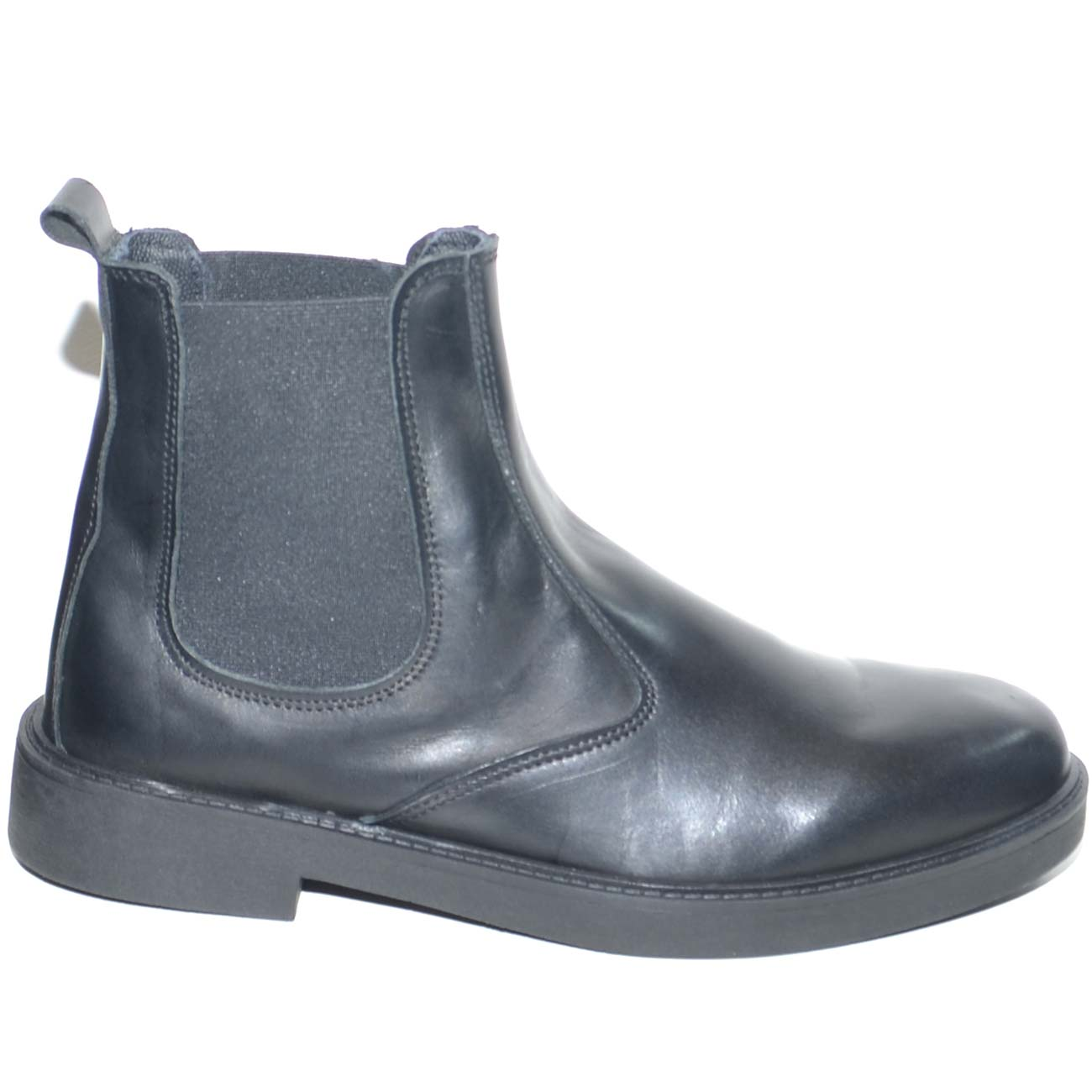 Beatles uomo stivaletto inglese vera pelle spazzolata in vitello nero fondo  ultralight in gomma scarpe da 99d01aa8f5b