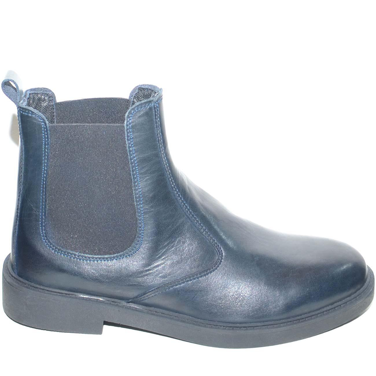 77db871d13 Beatles uomo stivaletto inglese vera pelle spazzolata in vitello blu fondo  ultralight in gomma scarpe da professionista uomo beatles made in italy |  ...