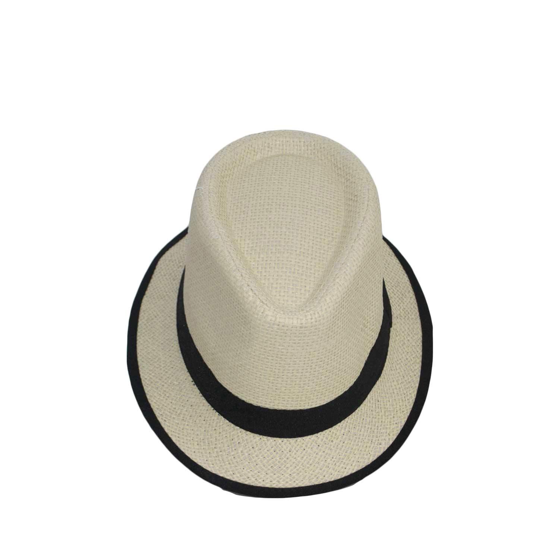 58c0843ca00b Cappello tessuto leggero bicolore panna-nero.
