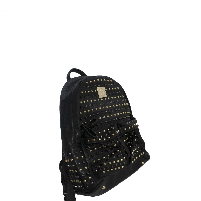 nuovo concetto 6e958 e96ab Zainetto nero pelle borchie genuine leather uomo zaini Malu Shoes |  MaluShoes