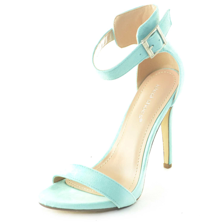Verde Sandalo Linea Camoscio A Tacco Spillo Tiffany Donna Acqua YeWHI2ED9