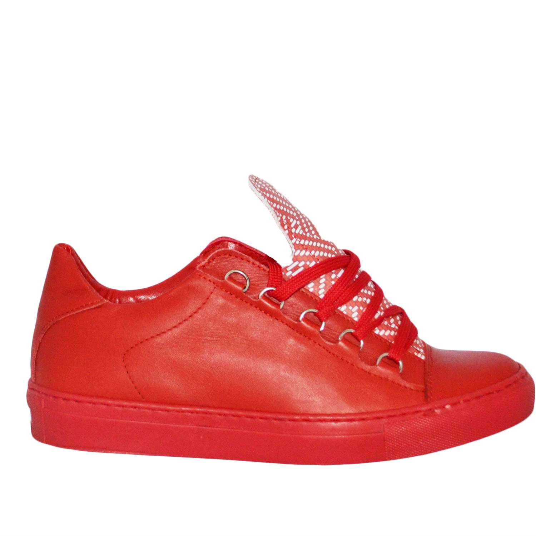 Sneakers scarpa bassa uomo bian con fortino giallo fluo e