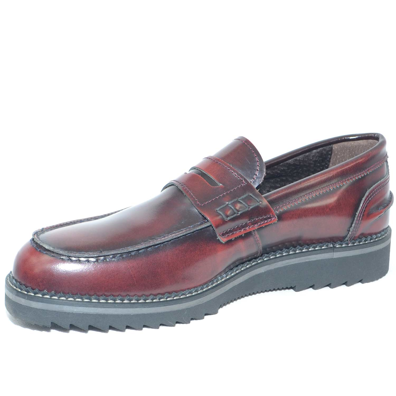 Scarpe uomo mocassini bendina vera pelle abrasivato made in italy fondo  classico sportivo genuine leather moda 6c223706f81