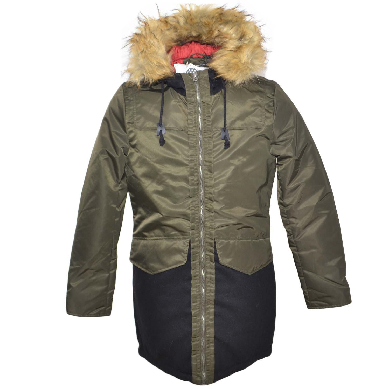 best service f95cc d3708 New parka uomo tasche camoscio tessuto impermeabile cappuccio pelliccia  ecologica uomo parka Acy | MaluShoes