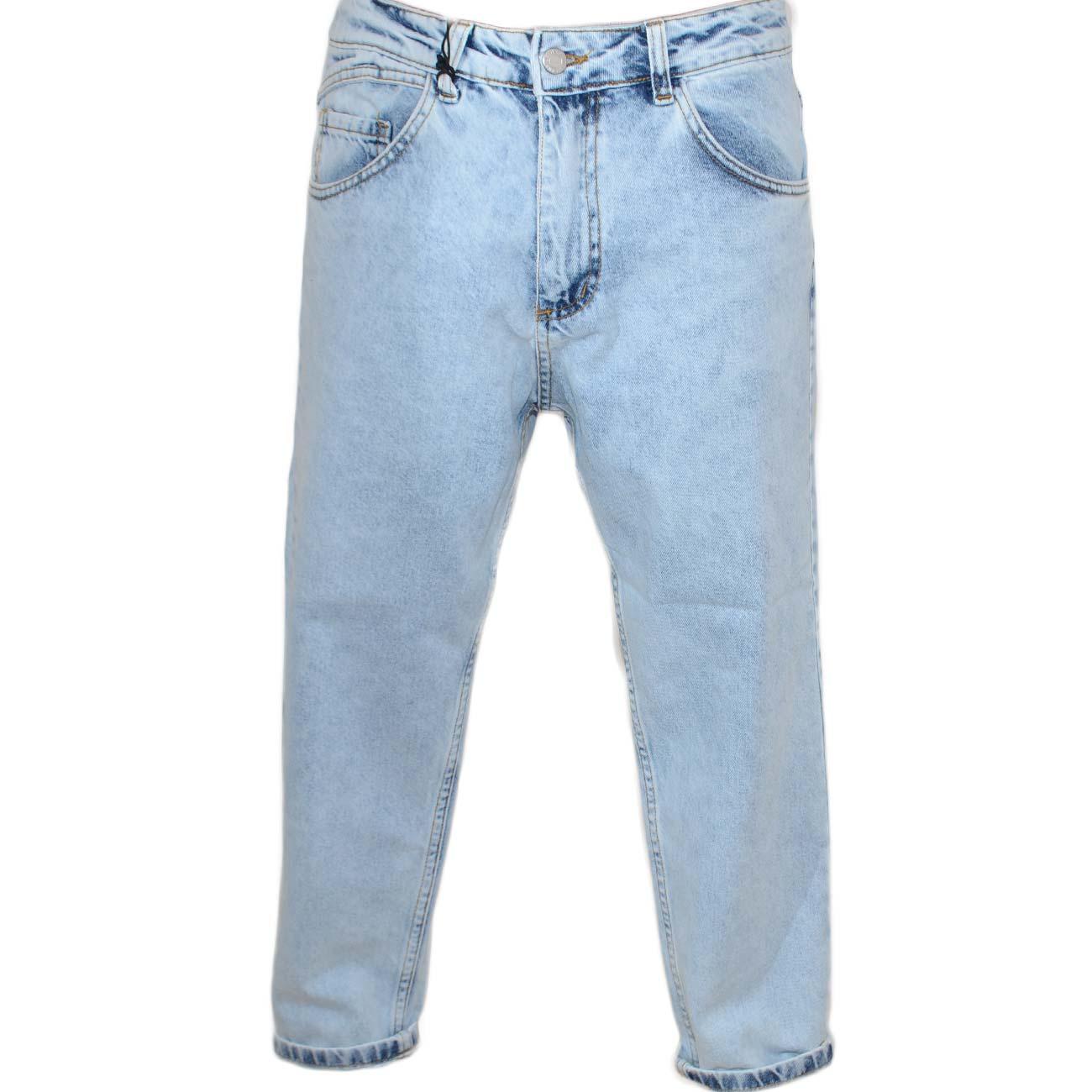 nuovo di zecca 26728 af7c1 Pantaloni Jeans chiaro denim biker sfumato Skinny fit chiusura con bottone  e cerniera. lavaggio graduale vintage uomo jeans made in italy | MaluShoes