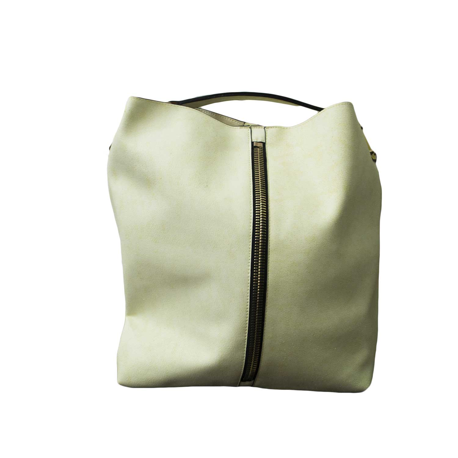 Borsa Shopping Big Bags manico tracolla zip giallo.