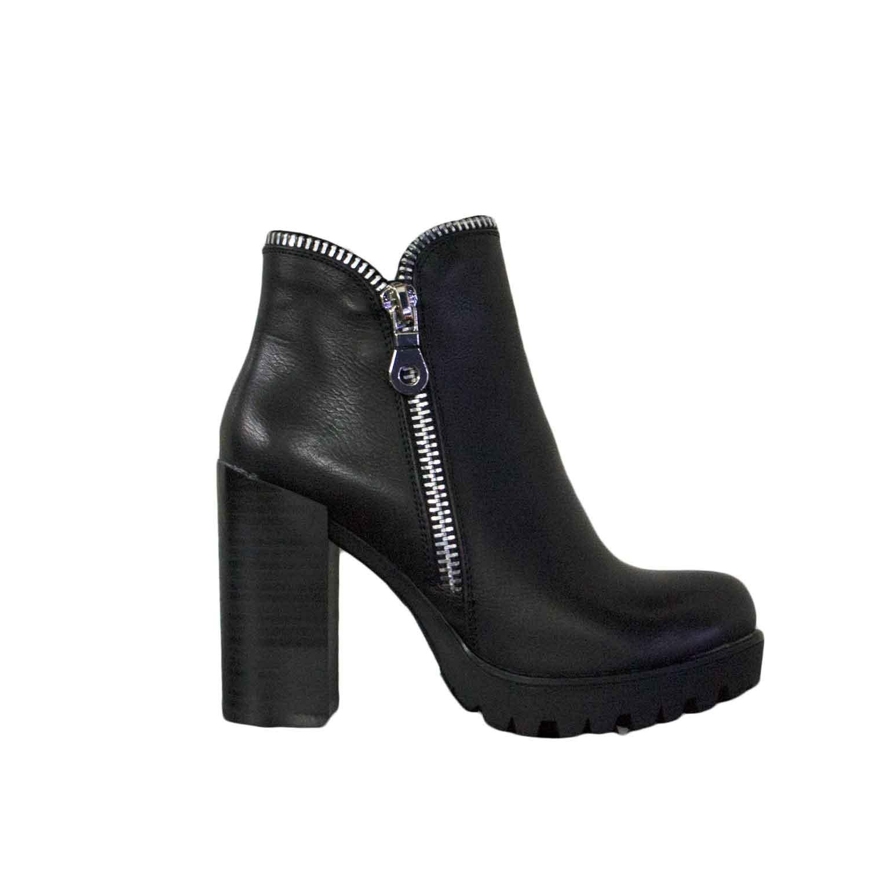 official photos 2da68 416ae Scarpe donna tronchetto zip argento fondo roccia moda glamour made with  love donna tronchetti Malu Shoes | MaluShoes