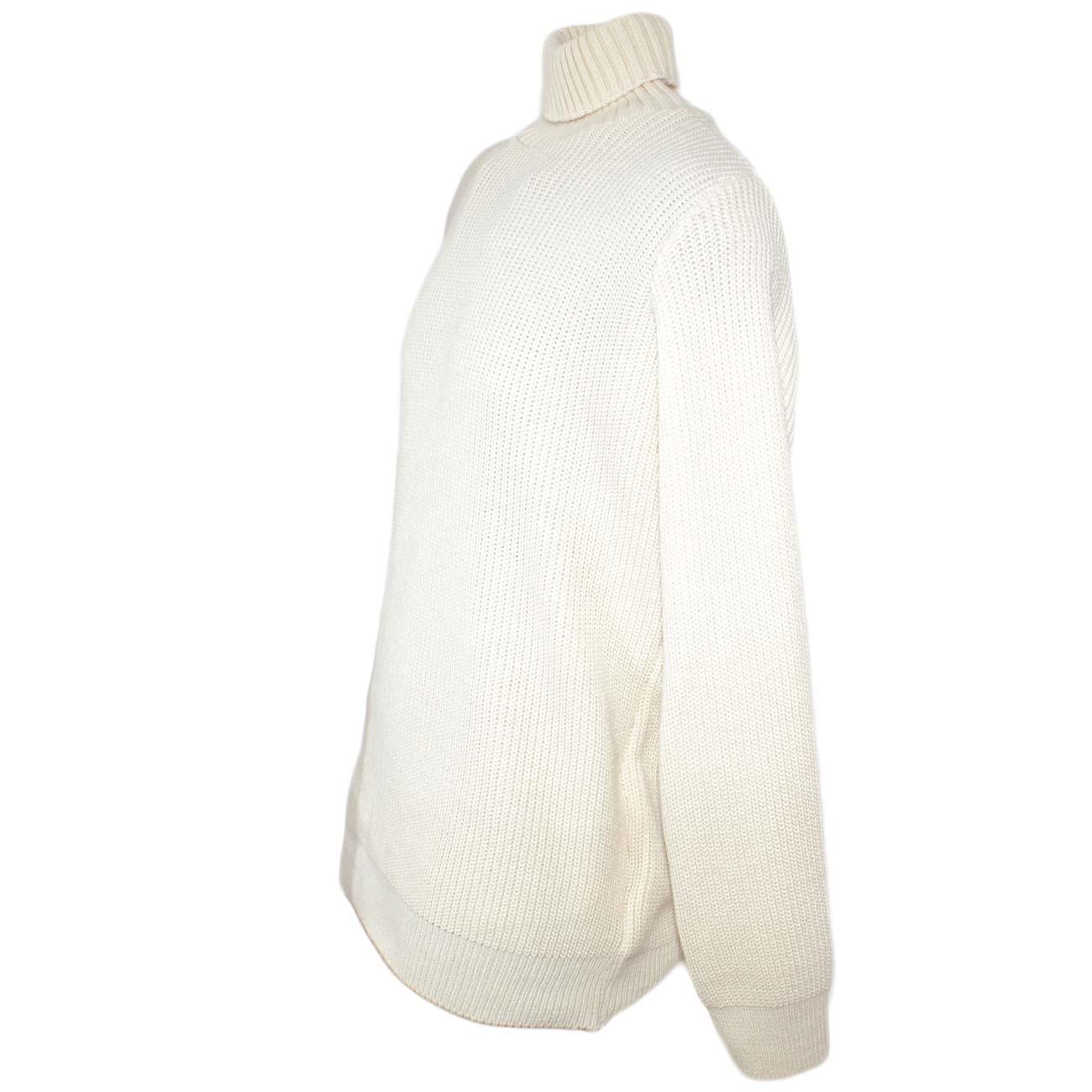 Maglione Intessitura Panna Dolcevita Ad Slim Color Lungo Fit Uomo ZFZ0qrW8