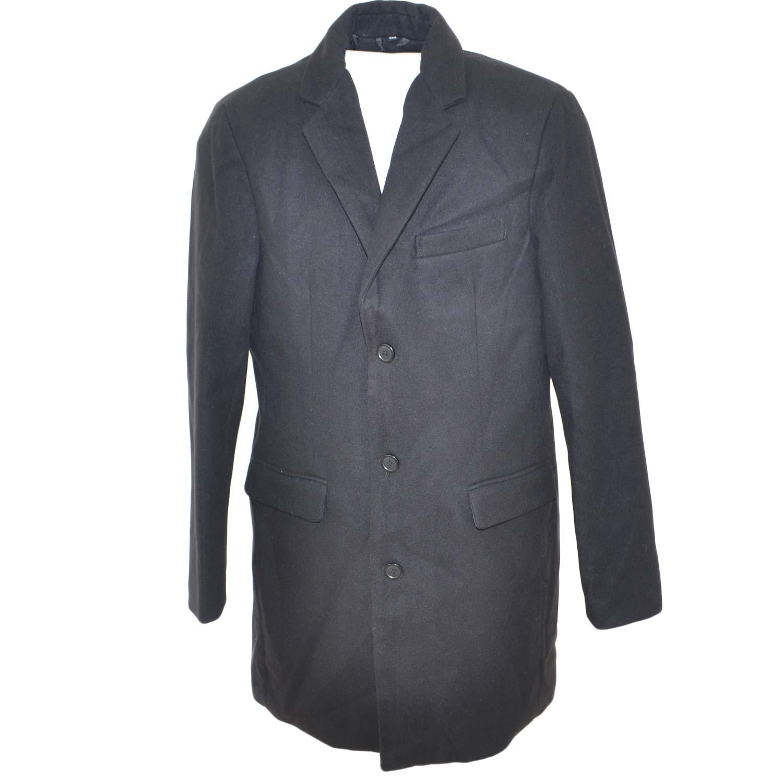 Potatoes Witty Coordinate  Cappotto giacca lunga uomo nero in calda lana sottile con abbottonatura  frontale bottoni in osso slim fit moda uomo uomo cappotti MALU SHOES |  MaluShoes