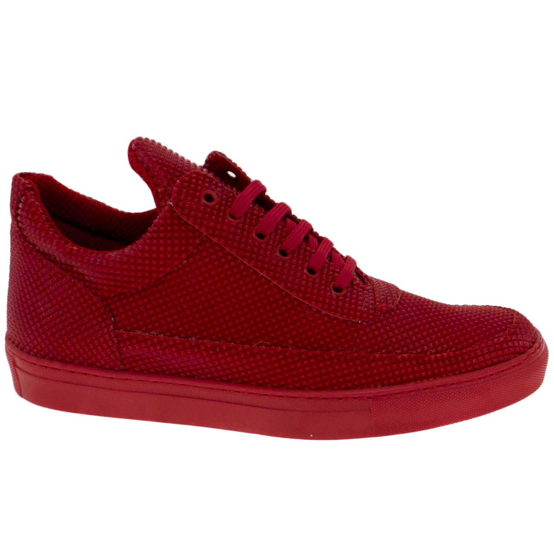 another chance 6db63 519c5 Sneakers bassa uomo scarpe calzature modello phil dettaglio piramide rosso  vera pelle uomo sneakers bassa Made In Italy | MaluShoes