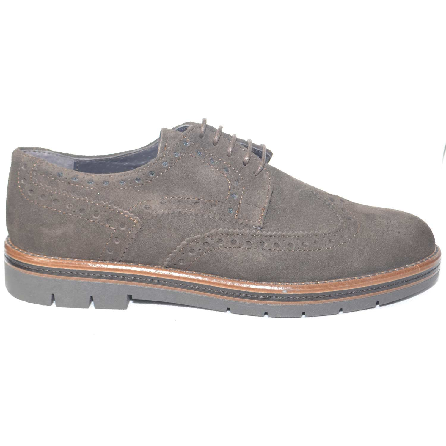 check-out a5f9d 3282a Calzature uomo scarpe francesine stringate uomo marrone fondo bicolore  antiscivolo made in italy moda comfort uomo stringate made in italy |  MaluShoes