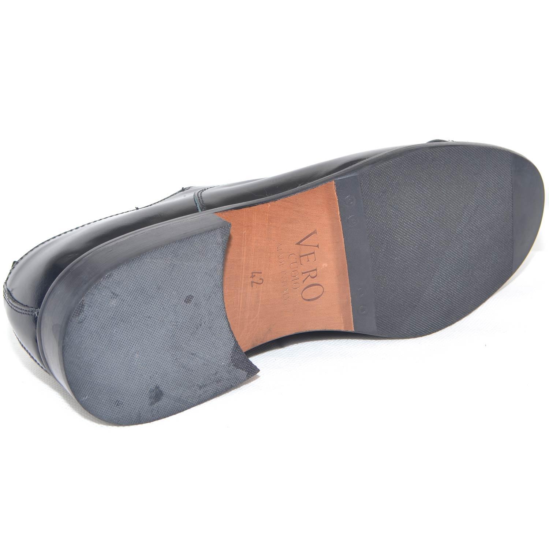 c40e805436 Scarpe uomo francesina inglese punta alzata vera pelle lucida nero made in  italy fondo classico sportivo genuine leather uomo classiche made in italy  ...
