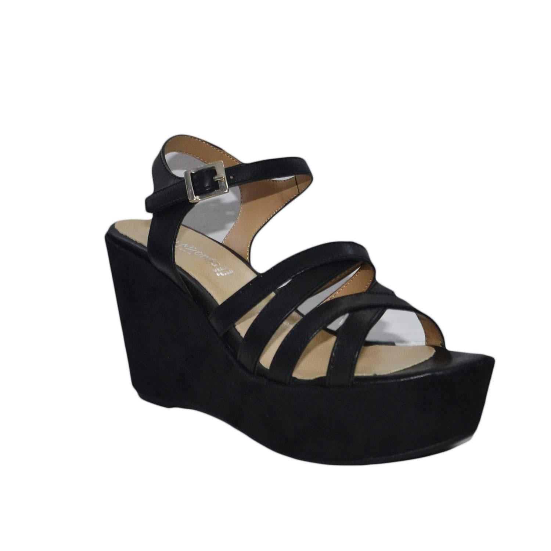 in zeppe nero comode scarpe made donna italy pelle vera camoscio TwRpRxX
