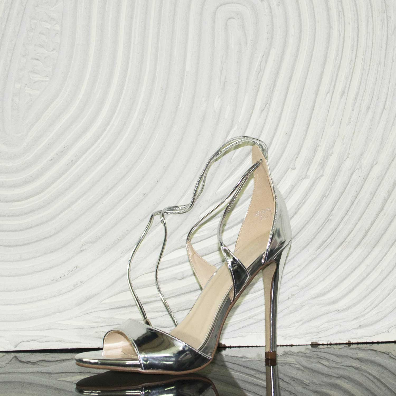 4123b1b372 Sandali argento specchio eleganti tacco alto comfort chic cerimonia donna  sandali tacco Malu Shoes   MaluShoes