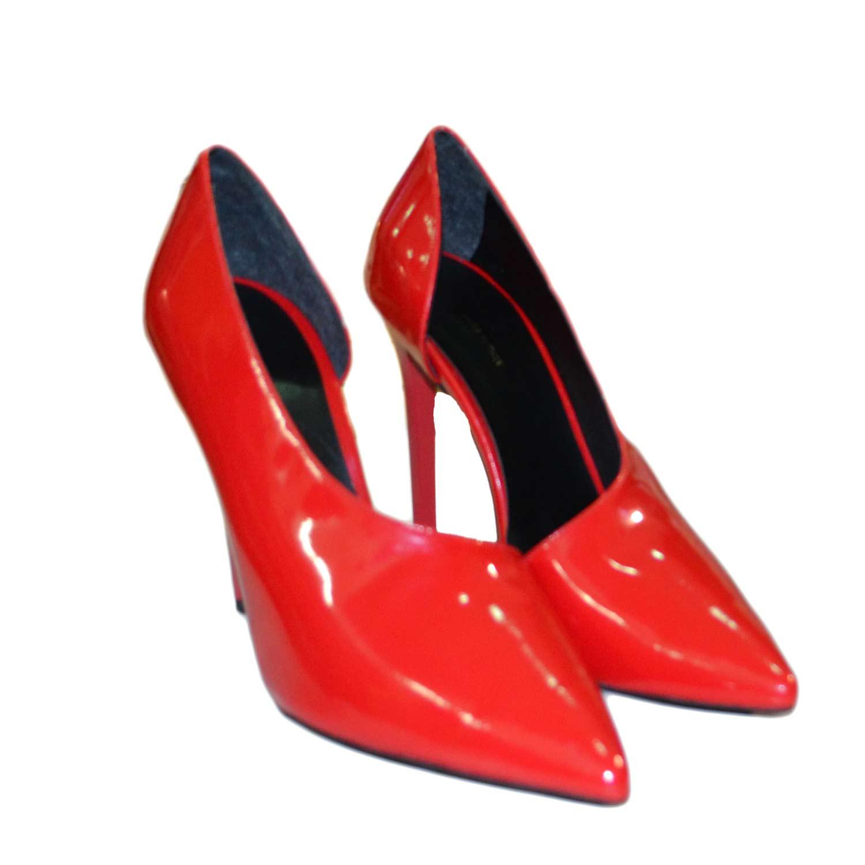 Decollete donna scollatura scarpe vernice rosso decollete con tacco alto  moda donna 72bd6f282c9
