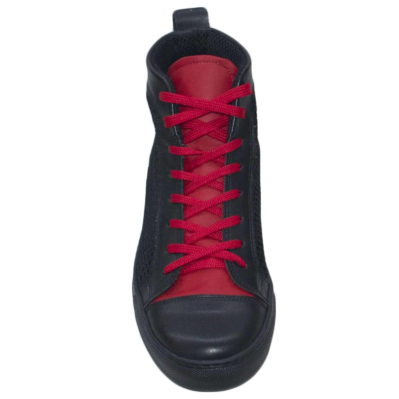 """sale retailer 76ec7 b37f2 Scarpe uomo alta tessuto e pelle bicolore bicolore bicolore rossa nero made  in italy 1900bb. """""""