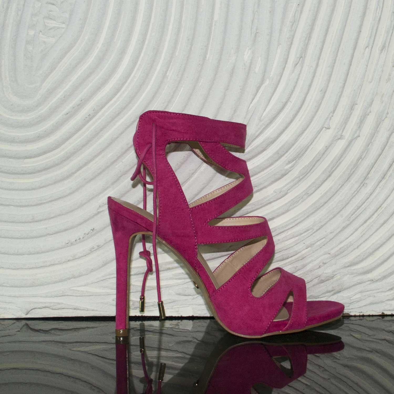 hot sale online 435a8 c5574 Scarpe Sandalo Camoscio fucsia Donna Moda Tendenza Tacco Alto Comfort donna  sandali tacco Malu Shoes | MaluShoes