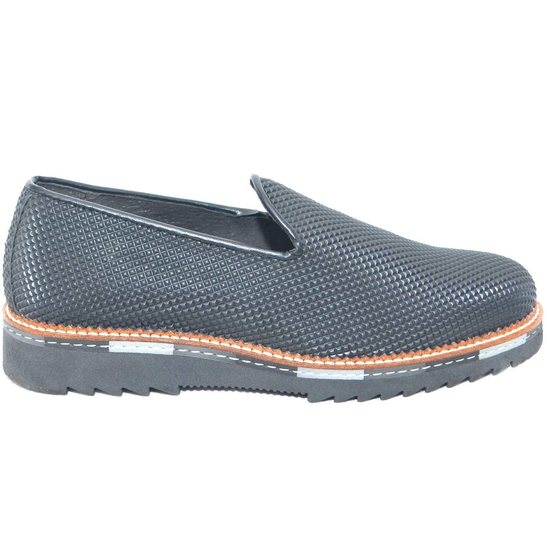 nero Calzature mocassino scarpe vera in in made piramide pelle uomo qt6t4g