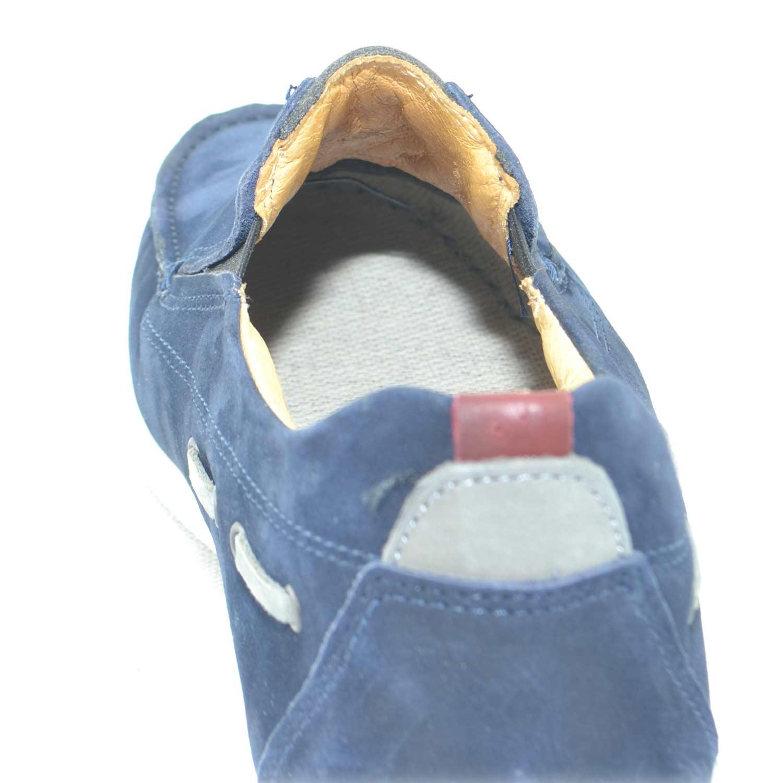 Scarpe uomo man casual made in italy mocassino interland comfort in vera  pelle di nabuk blu 19f78403475