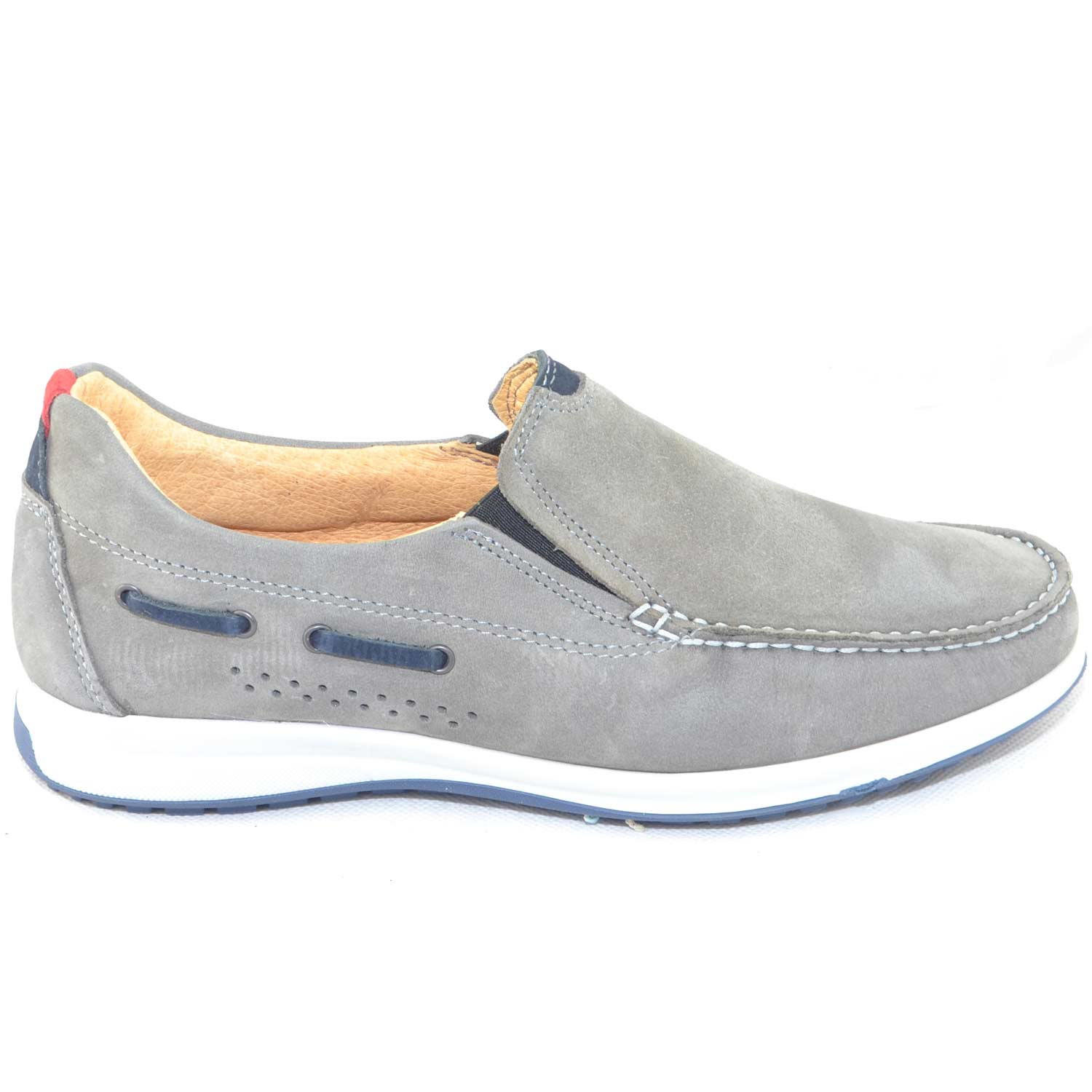 Scarpe uomo mocassino made in italy vera pelle brand interland original di alta qualita' casual comfort .