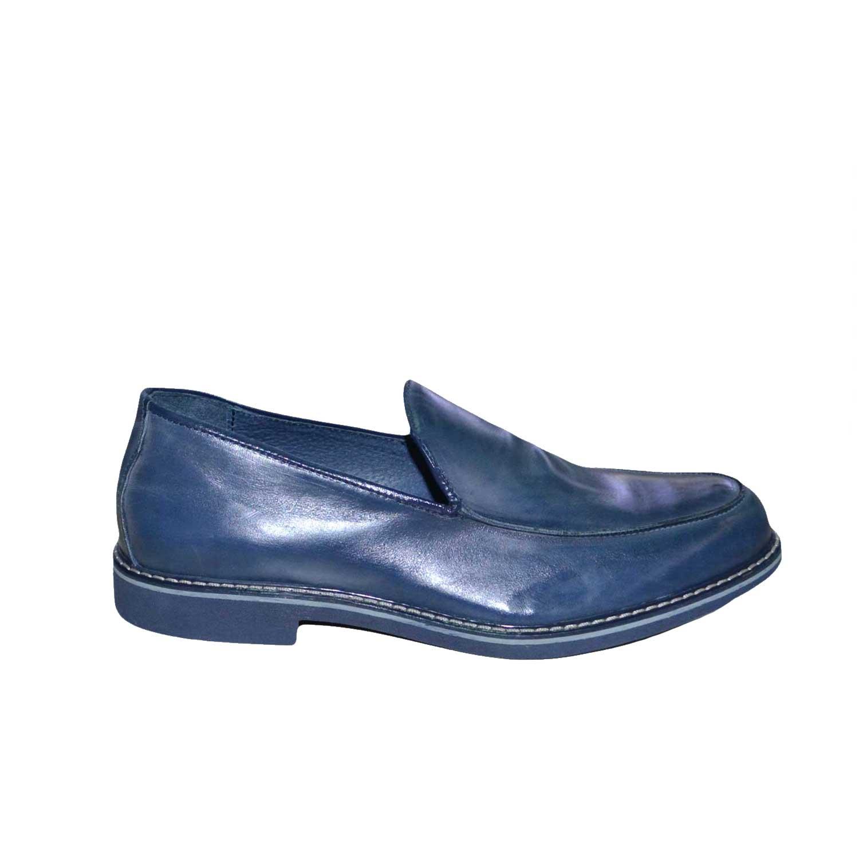 scarpe uomo mocassini liscio pelle abrasivato made in italy fondo ... 14e02b09004