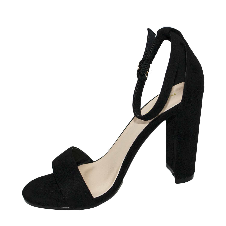 Nero 9w2iehd Camoscio Sandalo Minimal Art Largo Za08 Tacco Senza Plateau 4RjL5A